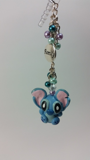 Baby Stitch Beaded Phone Charm